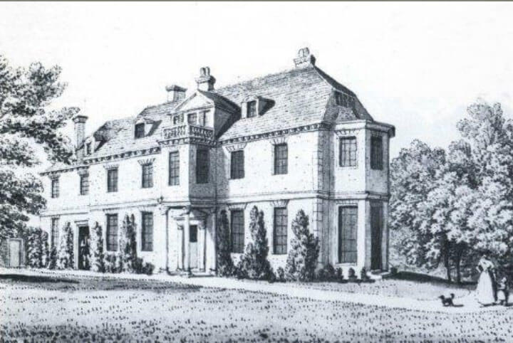 black and white drawing of gildredge manor
